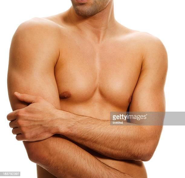 Muscular male torso.