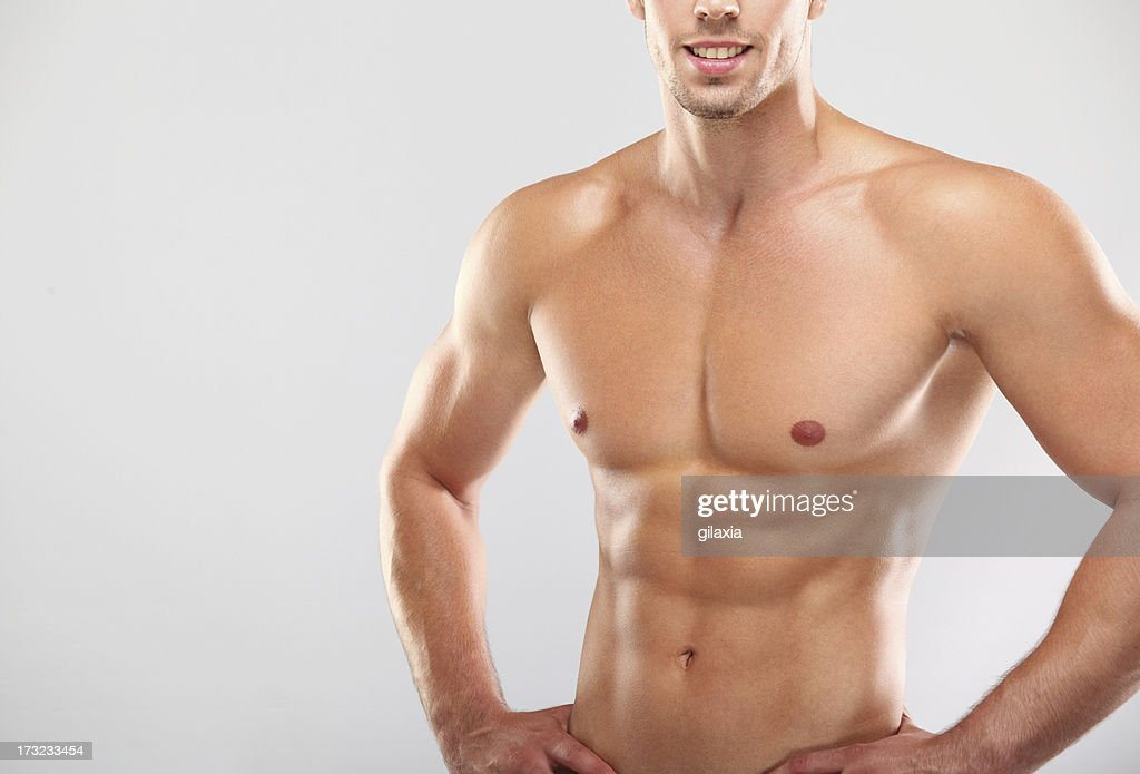 Muscular Male Upper Body Stock Photo Getty Images