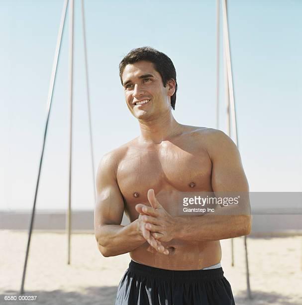 Muscular Man Smiling