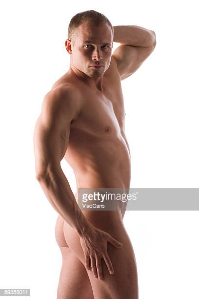 muscular nude male torso - vlad models stock photos and pictures