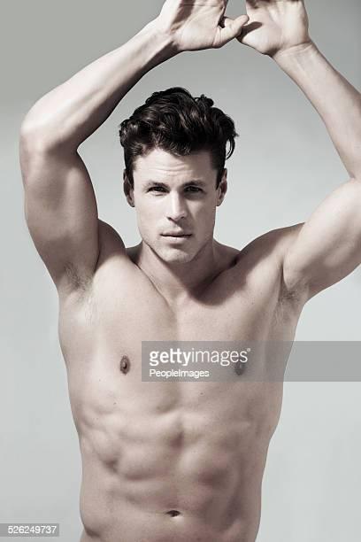 muskuläre perfektion - sexy nude models stock-fotos und bilder