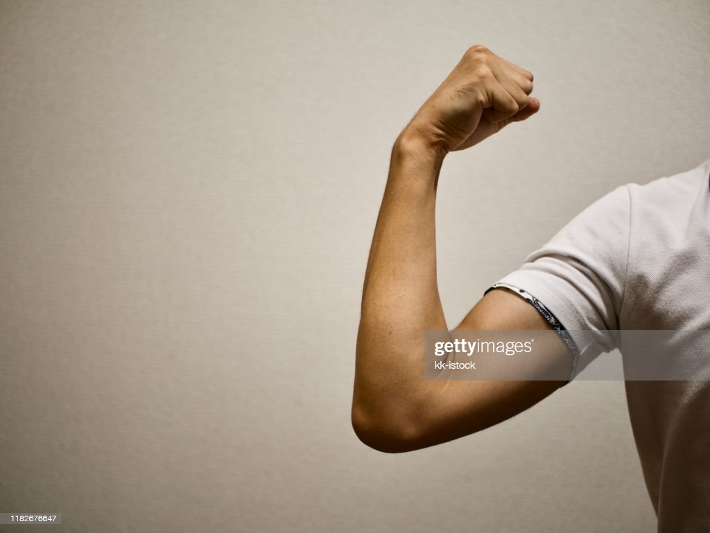 muscular upper arm : Stock Photo