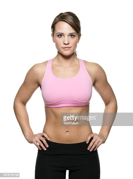 muscular woman - female bodybuilder stock pictures, royalty-free photos & images