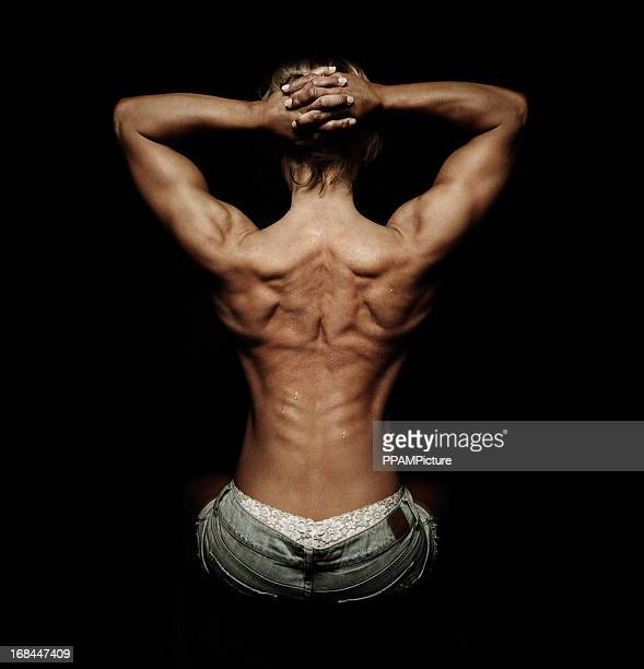 muscular woman - beautiful bare bottoms stock pictures, royalty-free photos & images