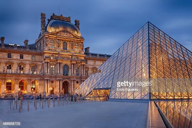 Musée du Louvre at dusk