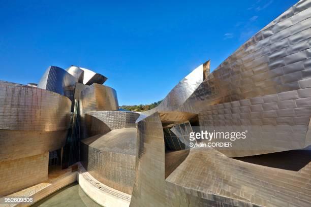 Musée Guggenheim ouvert en 1997 de l'architecte américanocanadien Frank Gehry à Bilbao Pays Basque Espagne