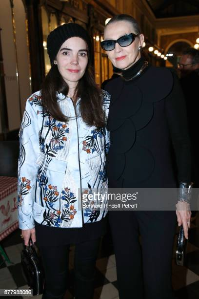 Muse of Pierre Cardin Maryse Gaspard and her daughter Charlotte Gaspard attend the Ligne Blanche Boutique Opening at Galerie VeroDodat on November 23...