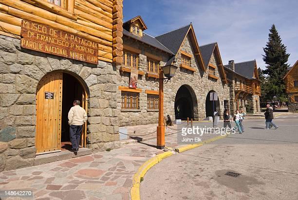 museo de la patagonia museum, civic centre. - bariloche stock pictures, royalty-free photos & images