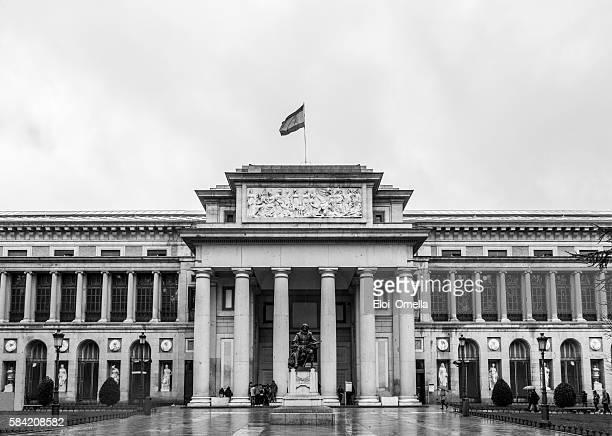museo del prado museum spain flag cloud horizontal rain - prado stock pictures, royalty-free photos & images