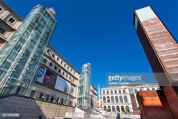 museo nacional centro de arte reina sofia, madrid, spain - museo nacional centro de arte reina sofia stock pictures, royalty-free photos & images
