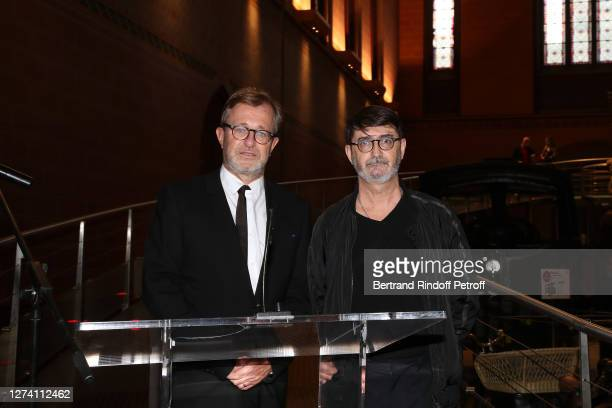 "Museum Administrator Olivier Faron and Franck Sorbier present the ""Il Medico Della Peste"" Franck Sorbier Haute Couture Pieces Uniques AW 2020/21..."
