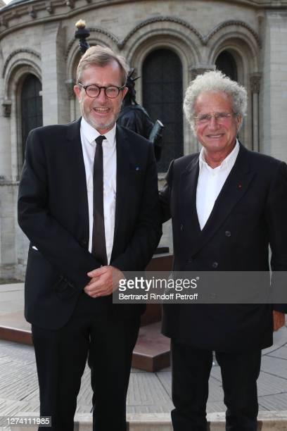 "Museum Administrator Olivier Faron and Laurent Dassault attend the ""Il Medico Della Peste"" Franck Sorbier Haute Couture Pieces Uniques AW 2020/21..."