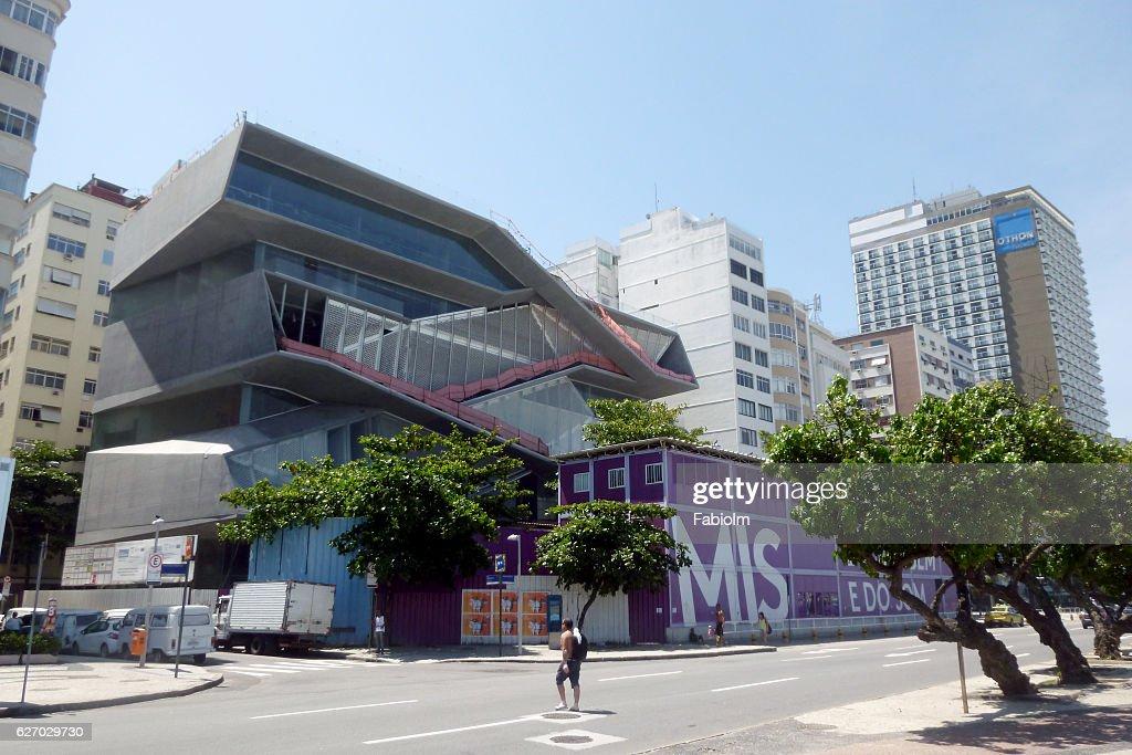 MIS Museum at Copacabana Beach in Rio : Stock Photo
