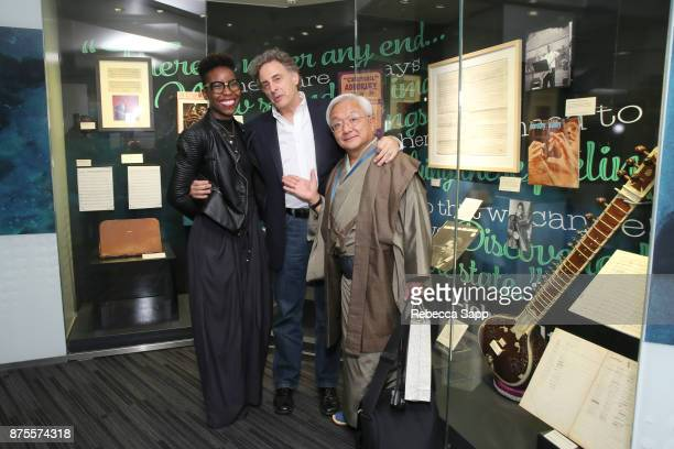 Museum Curator Nwaka Onwusa director John Scheinfeld and Yasuhiro Fujioka attend Chasing Trane The John Coltrane Documentary The Opening of the...
