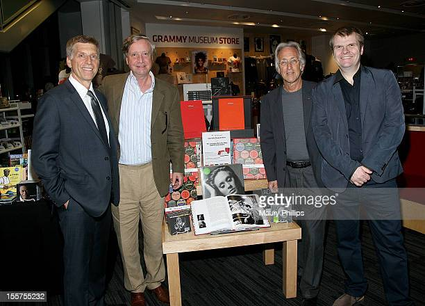 GRAMMY Museum executive dircetor Bob Santelli Sean Wilentz author of 360 Sound The Columbia Records Story the recording academy president Neil...