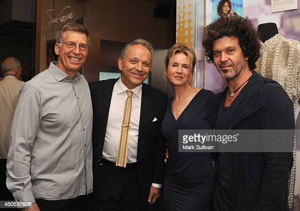 GRAMMY Museum executive director Bob Santelli Jimmie Vaughan actress Renee Zellweger and musician/songwriter Doyle Bramhall II during the Stevie Ray...