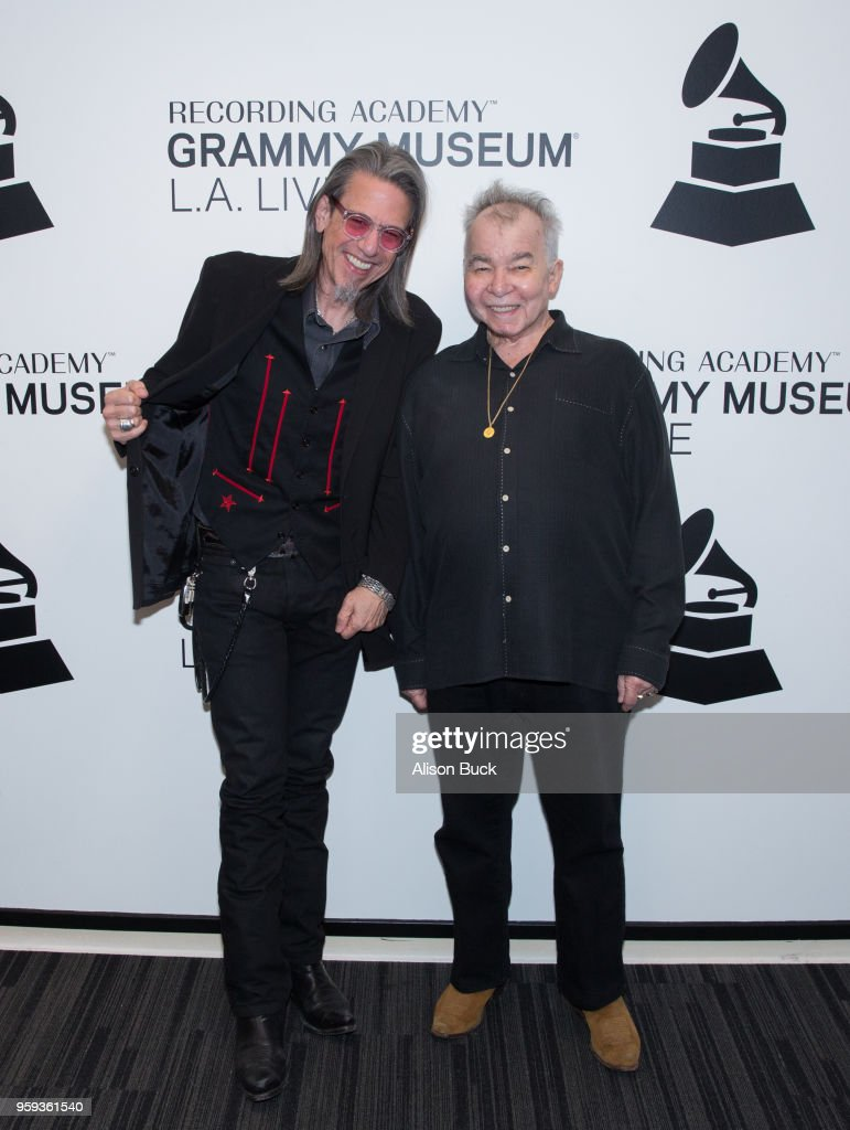 Museum executive director Scott Goldman and musician John Prine attend The Drop: John Prine at The GRAMMY Museum on May 16, 2018 in Los Angeles, California.