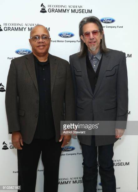Museum® Executive Education Director David R Sears and Executive Director GRAMMY Museum® Scott Goldman pose for a photo at the GRAMMY Museum®'s ninth...
