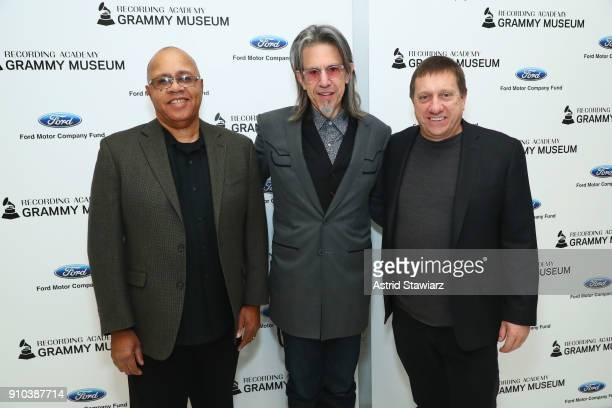 Museum® Executive Education Director David R Sears Executive Director GRAMMY Museum® Scott Goldman and The GRAMMY Museum board member Tim Bucher pose...