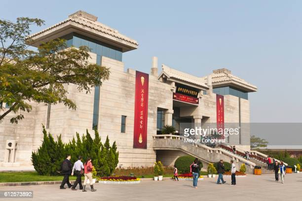 Museum housing bronze chariots at the site of the terracotta army, Xi?an, Shaanxi Province, China