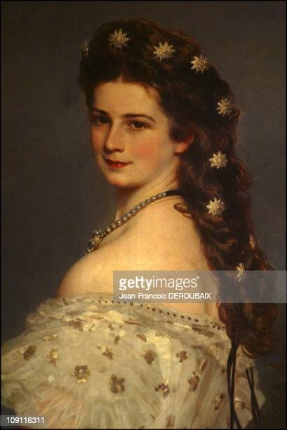 Museum Is Devoted To Empress Sissi In Hofburg Palace On May 1 2004 In Vienna Austria Sissi By Winterhalter Wearing The Famour 'Diamond Stars' Made By...