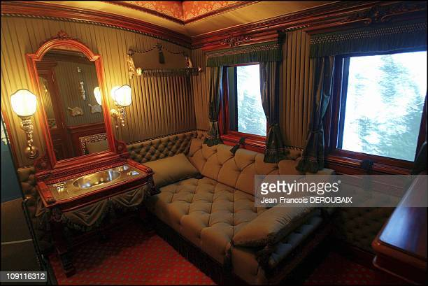 Museum Is Devoted To Empress Sissi In Hofburg Palace On May 1 2004 In Vienna Austria Sissi'S Personal 'WagonLounge' She Used In Her Train Trips...