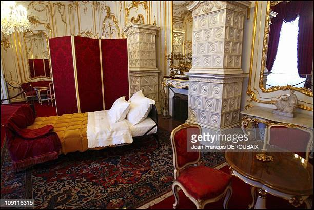 Museum Is Devoted To Empress Sissi In Hofburg Palace On May 1 2004 In Vienna Austria Sissi'S Room And Lounge At Hofburg Palace With Her SimpleStyled...