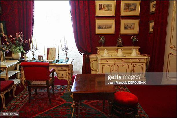Museum Is Devoted To Empress Sissi In Hofburg Palace On May 1 2004 In Vienna Austria The Empress' Hygiene Cupboard And Small Desk