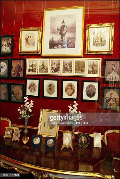 Museum Is Devoted To Empress Sissi In Hofburg Palace On May 1 2004 In Vienna Austria On A Wall Of The Small Lounge Numerous Photographs Of Sissi'S...