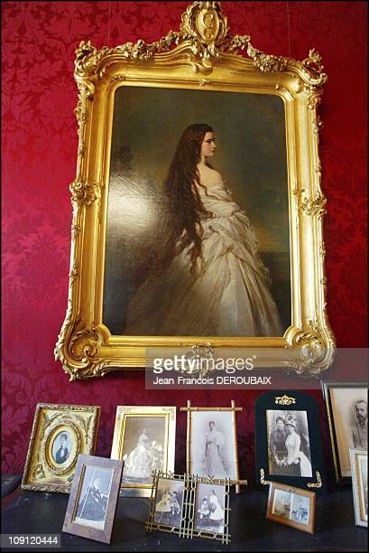 Museum Is Devoted To Empress Sissi In Hofburg Palace On May 1 2004 In Vienna Austria In A Lounge At The Palace Of Portrait Of Sissi With Her Hair...
