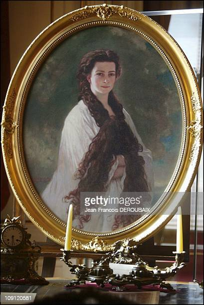 Museum Is Devoted To Empress Sissi In Hofburg Palace. On May 1, 2004 In Vienna , Austria. Portrait Of A Young Sissi, Her Hair Tied In A Knot, In The...