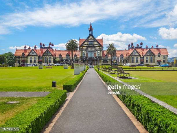 museum of art and history in rotorua new zealand - rotorua stock pictures, royalty-free photos & images