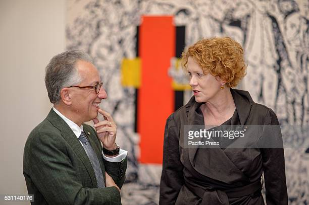 Museum of Contemporary Art Australia Chairman Simon Mordant AM and the Director of the Elizabeth Ann Macgregor OBE at the announcement of the first...