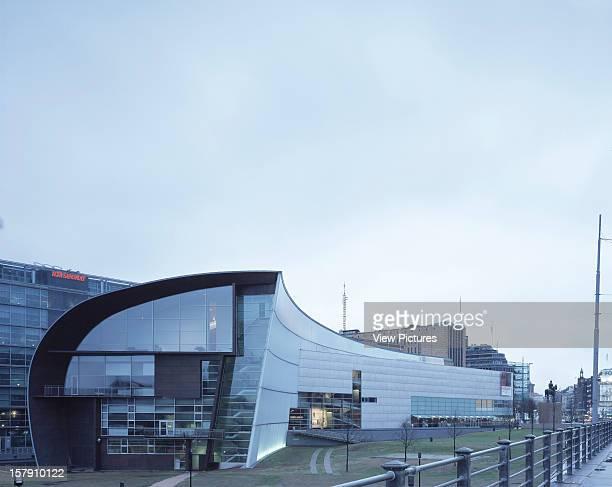 Museum Of Contemporary Art Kiasma Helsinki Finland Architect Steven Holl Museum Of Contemporary Art Kiasma General View From West Dusk