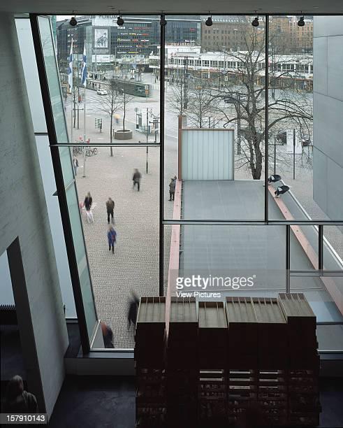 Museum Of Contemporary Art Kiasma Helsinki Finland Architect Steven Holl Museum Of Contemporary Art Kiasma View Out Over Entrance