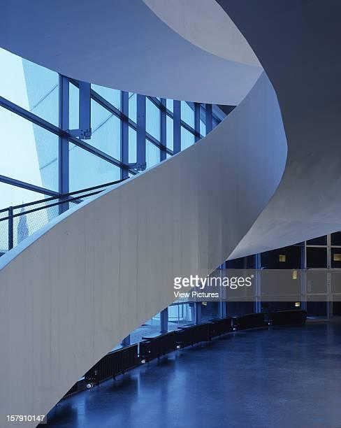 Museum Of Contemporary Art Kiasma Helsinki Finland Architect Steven Holl Museum Of Contemporary Art Kiasma Stair Dusk
