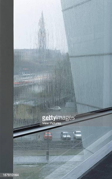 Museum Of Contemporary Art Kiasma Helsinki Finland Architect Steven Holl Museum Of Contemporary Art Kiasma View Out Window In The Rain