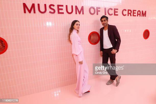 Museum of Ice Cream Cofounders Maryellis Bunn and Manish Vora attend Museum of Ice Cream SoHo Flagship Opening Party on December 12 2019 in New York...