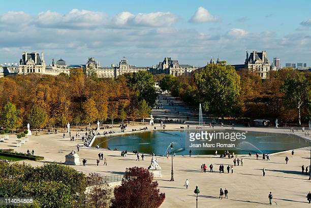 Museum of Louvre and garden of Tuileries