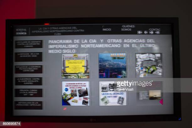 Museum of Memory anti CIA propacanda on November 10 2017 in Havana Cuba