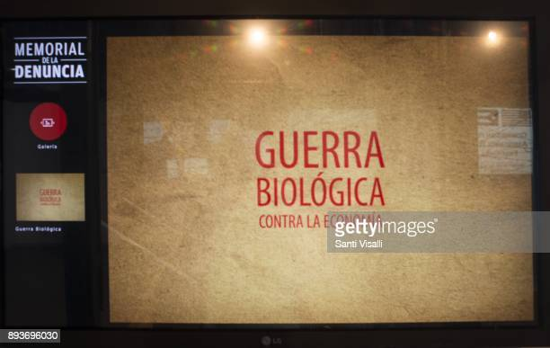Museum of Memory biological war to cuban economy on November 10 2017 in Havana Cuba
