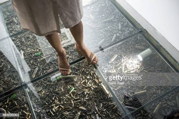 Museum of Memory floor made with empty shells on November 10 2017 in Havana Cuba