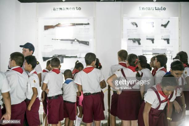 Museum of Memory School children visiting the Museum on November 10 2017 in Havana Cuba