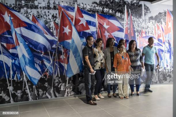 Museum of Memory visitors posing for a photo on November 10 2017 in Havana Cuba