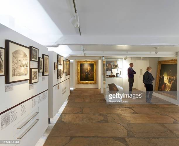 Museum of Methodism Wesley's Chapel London United Kingdom Architect John McAslan Partners 2013 Refurbished exhibition space with original stone...