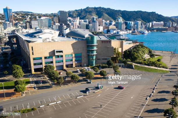 Museum of New Zealand Te Papa Tongarewa on April 29, 2020 in Wellington, New Zealand. New Zealand's lockdown measures were eased slightly as the...