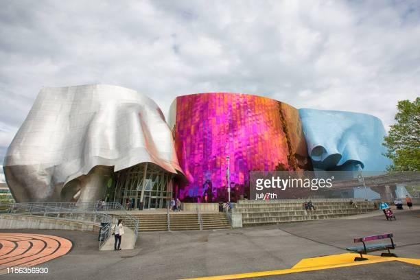 シアトル・センターのポップカルチャー博物館 - エクスペリエンスミュージックプロジェクト ストックフォトと画像