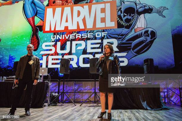 Museum of Pop Culture VP and General Manager Alexis Lee and Artistic Director Jasen Emmons appear at Museum of Pop Culture on April 20 2018 in...