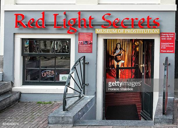 Museum of Prostitution in the Red Light district Amsterdam The Netherlands 25 April 2014 Although attracting large number of tourists window...
