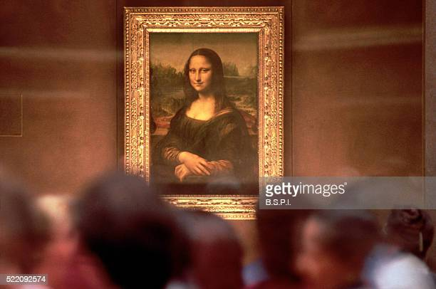 Museum Patrons Observing the Mona Lisa